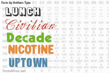 Anthem Type Fonts