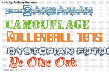 Anthony Robinson Fonts