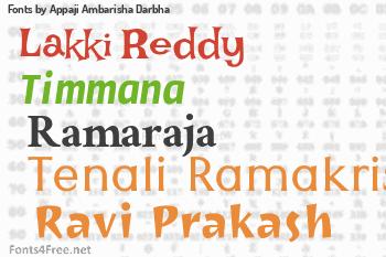 Appaji Ambarisha Darbha Fonts