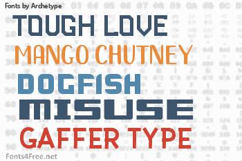 Archetype Fonts