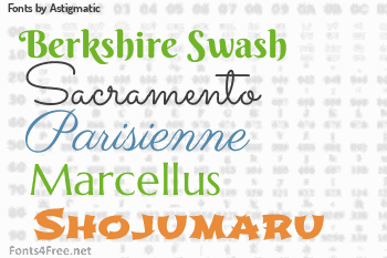 Astigmatic Fonts