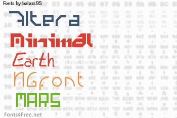 balazs95 Fonts