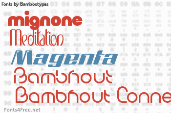 Bambootypes Fonts