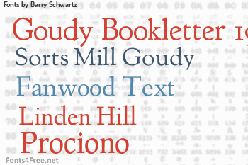 Barry Schwartz Fonts