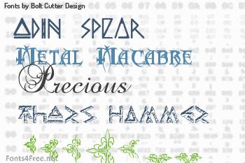 Bolt Cutter Design Fonts