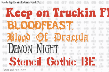 Brain Eaters Font Co. Fonts