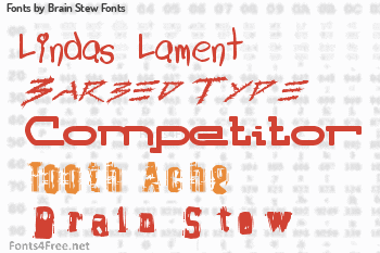 Brain Stew Fonts Fonts