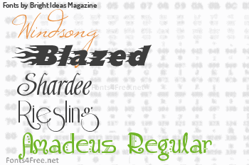 Bright Ideas Magazine Fonts