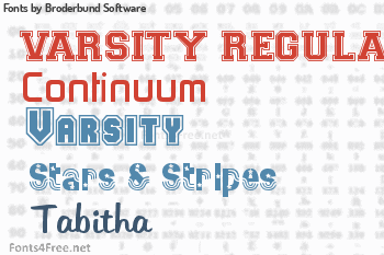 Broderbund Software Fonts