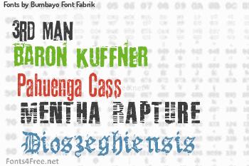 Bumbayo Font Fabrik Fonts