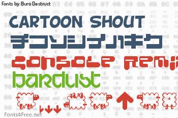 Buro Destruct Fonts