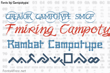 Campotype Fonts