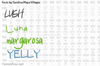 Carolina Mejia Villegas Fonts