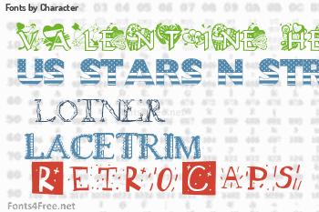 Character Fonts