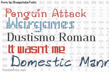 Cheapskate Fonts Fonts