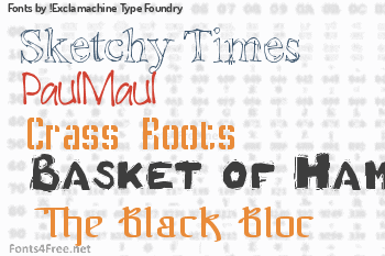 !Exclamachine Type Foundry Fonts