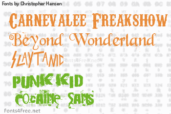 Christopher Hansen Fonts