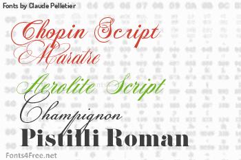 Claude Pelletier Fonts