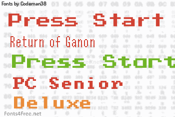 Codeman38 Fonts