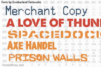 Cumberland Fontworks Fonts