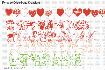 Cyberbuny Creations Fonts