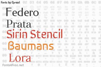 Cyreal Fonts
