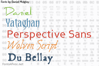 Daniel Midgley Fonts