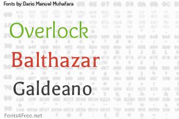 Dario Manuel Muhafara Fonts