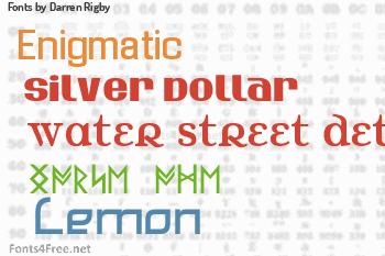 Darren Rigby Fonts