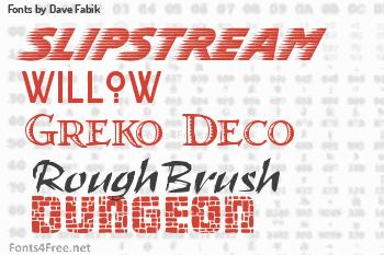Dave Fabik Fonts