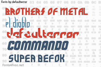 defaulterror Fonts