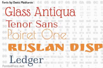 Denis Masharov Fonts