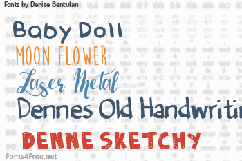 Denise Bentulan Fonts