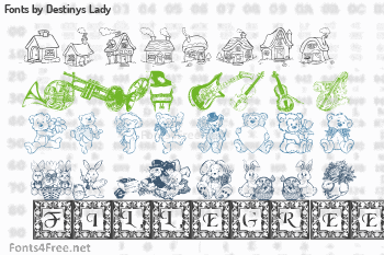 Destinys Lady Fonts