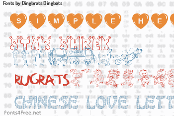 Dingbrats Dingbats Fonts