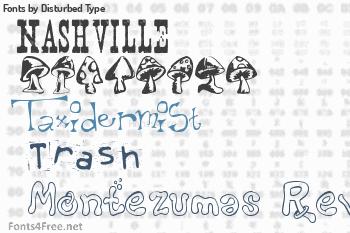 Disturbed Type Fonts
