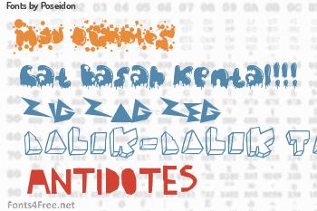 Poseidon Fonts
