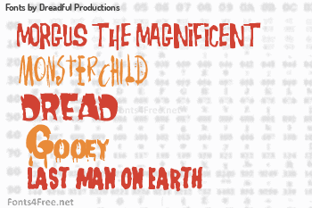 Dreadful Productions Fonts