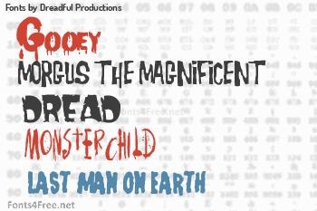 Dreadful Productions Fonts
