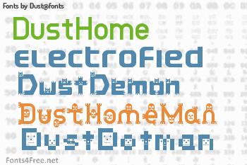 Dust@fonts Fonts