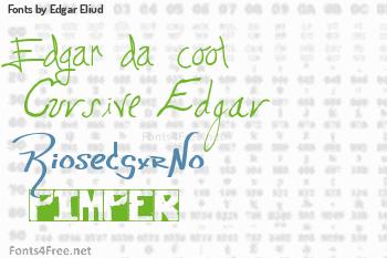 Edgar Eliud Fonts