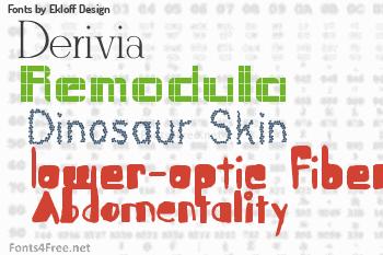 Ekloff Design Fonts