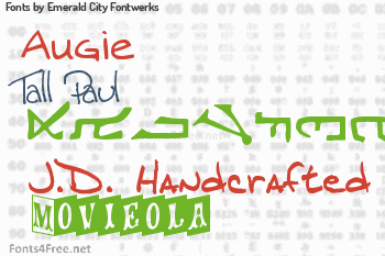 Emerald City Fontwerks Fonts