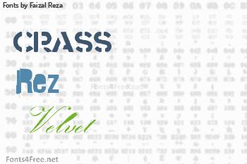 Faizal Reza Fonts