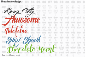 fey design Fonts
