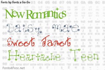 Fonts a Go-Go Fonts