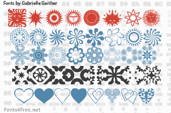 Gabrielle Gaither Fonts