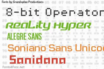 Grandoplex Productions Fonts