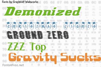 GreyWolf Webworks Fonts