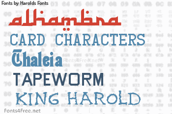 fonts by harolds fonts alhambra card characters and bead chain